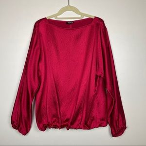 Worth New York Blouse/Top, Red, Size M